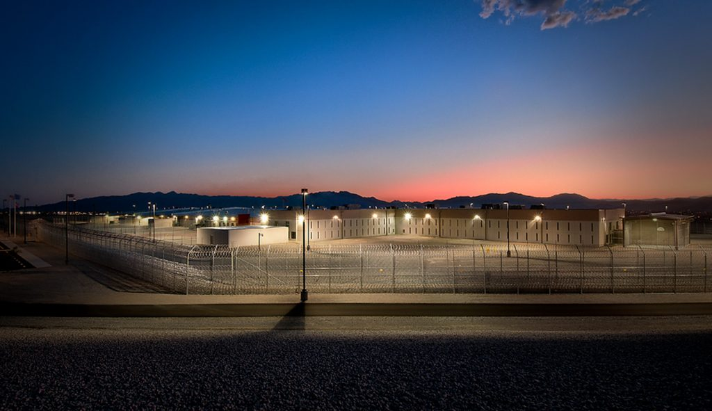 Nevada-Southern-Detention-Center-night-exterior